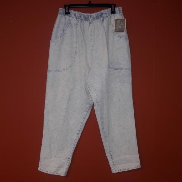 87fbc48aa05 Vintage acid wash mom s plus size crop jeans